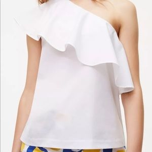 Ann Taylor LOFT - One Shoulder Ruffle Top